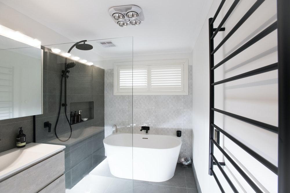 An edgy modern bathrom   House of Home   Bathware Direct